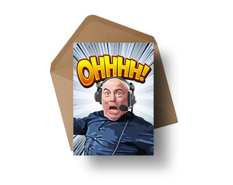 "UFC Commentator - Joe 'OHHHH!' Rogan   7x5"" Greeting Card"