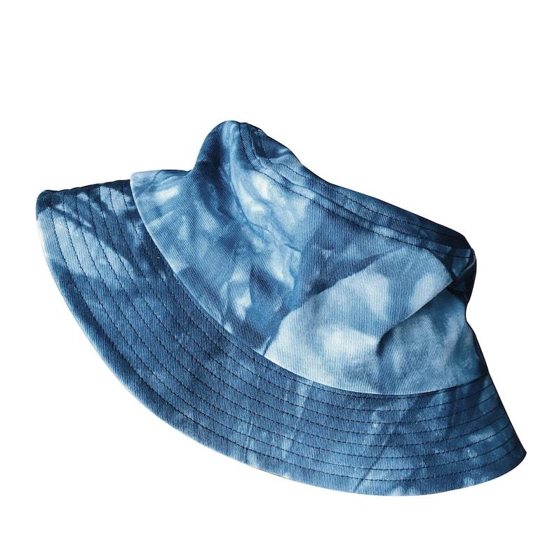 Tie Dye Bucket Hat Navy Denim Blue