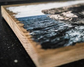 "Vintage Wood Photography | Handmade in Germany | ""Azure Window"""