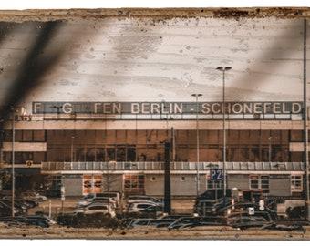 "Vintage Wood Photography | Handmade in Germany | ""Airport Berlin-SXF"""