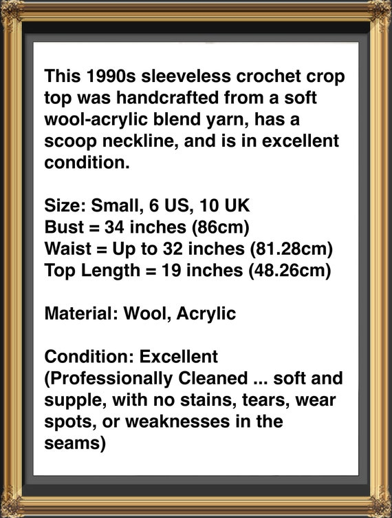 Crochet Sweater Vest, 1990s Vintage Crochet Orang… - image 9