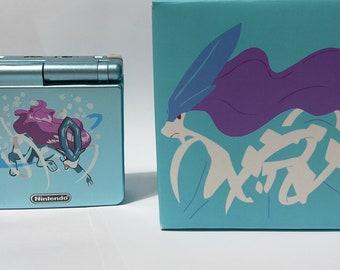 Custom Game Boy Advance SP - Suicune / GBA Sp