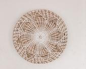 Wall Basket, Basket with Flower, Rattan Flower, Boho Home Decor, Nursery Room Decor, Wall Decor, Wall Hanger, Beaded Basket, Fruit Basket