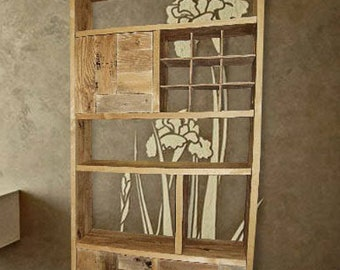 """Solid wood bookcase """"Country Patchwork"""""""