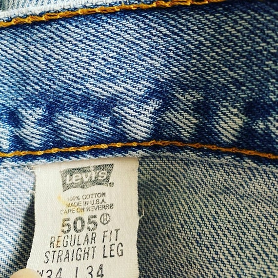 VINTAGE LEVIS 505 • Made in USA • 34/34 - image 5