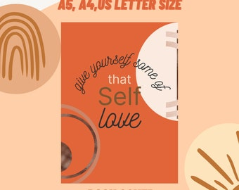Self-Care Planner Printable, Self Care Journal Printable, Self Care Workbook, Undated Planner, Monthly Planner Digital, Mindfulness Journal