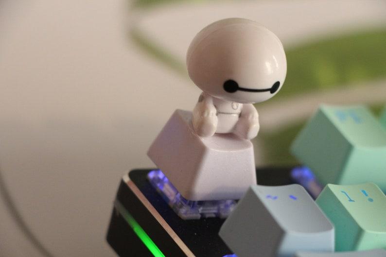 keyboard with rotating head Big Hero 6  keycap