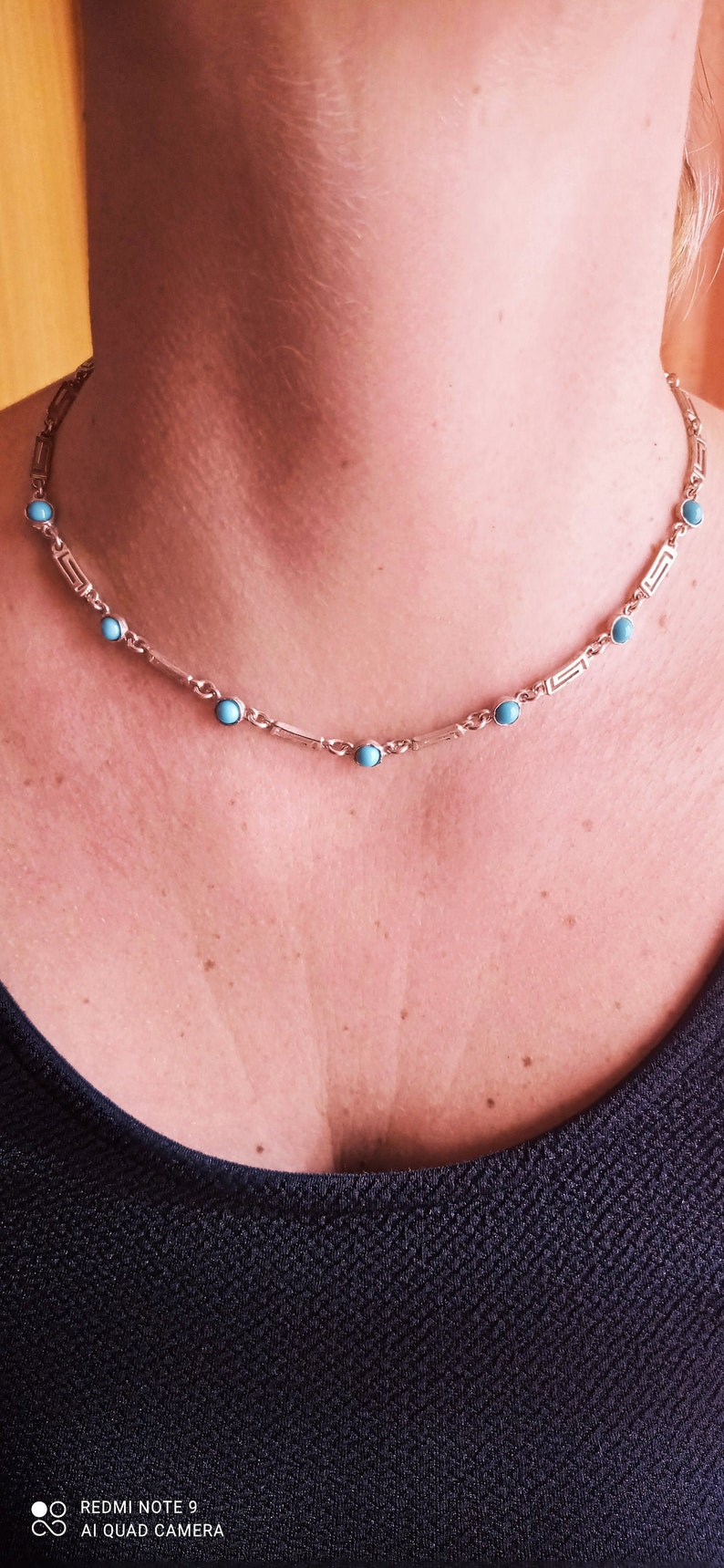 Vintage Greek sterling silver 925 necklace