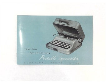 Smith Corona Typewriter User Instruction Manual for 50s Silent Super, Sterling or Clipper