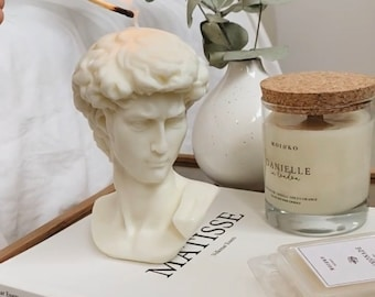 David Sculpture Candle Birthday Gift Candle Gift Ideas Soy Candle personalized gifts best friend gifts candles home decor self gift