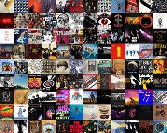 Vintage Album Cover Posters, Rock Album Cover Collage, Rock Band Posters, Album Cover Art, Album Cover Collage, 300dpi, 140 Posters
