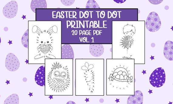 Printable Easter Dot to Dot Worksheets  Vol 1  20 Pages