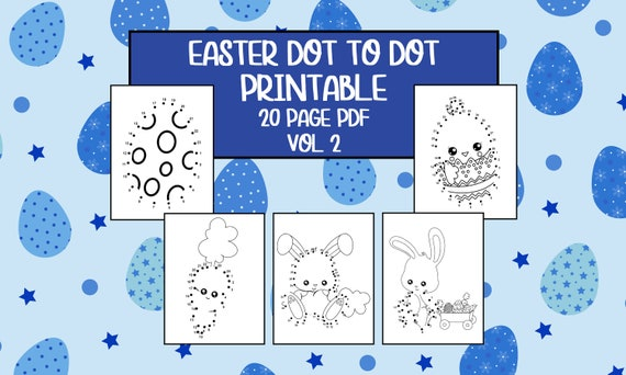 Printable Easter Dot to Dot Worksheets  Vol 2  20 Pages