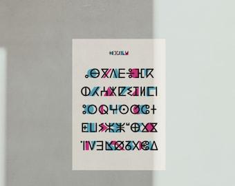 Tifinagh Alphabet - Algeria collection