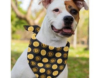 Bitcoin Crypto BTC Dog Cat Pet Bandana Handkerchiefs Scarfs Triangle Bibs Accessories