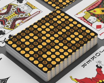 HODL Bitcoin BTC Poker Cards | Family Gamble Game Night | Standard Deck 2x Joker | Personalized Gifts for Crypto Investor Trader