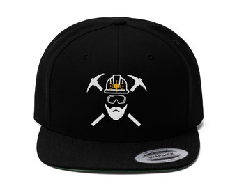 Ethereum Miner Merch | Adult Unisex Black Snapback Hat Cap |  Cryptocurrency Universe Eth Mining |  Gift for Investor Stock Trader Hodl