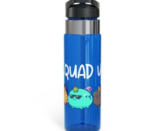 Axie Infinity 20oz BPA-Free Sport Water Bottle | Spill Resistant Lid With Straw | Axie Infinity Gift Crypto Fan Squad Up Merch