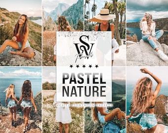 20 Pastel Lightroom Mobile & Desktop Presets, Nature Instagram Influencer and Blogger Photo Filter, Spring Preset