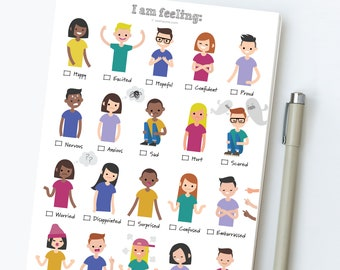 Feelings Emotions Worksheet for Kids. Emotions Feelings Activity. Social Worker & Child Therapist Tool. Child Psychologist Check-In Sheet