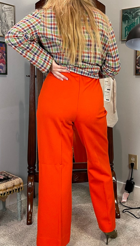 1970's Red Bellbottoms / Flare Pants - image 3