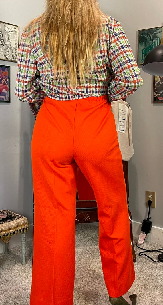 1970's Red Bellbottoms / Flare Pants - image 1