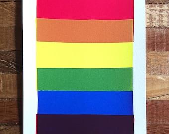 Lil Rainbow Monoprints