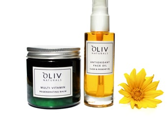 Regenerating Beauty Set with Multi Vitamin Balm and Antioxidant Face Oil