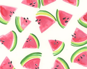 Blank Watermelon Love originial blank stationery cards summer NOT PRINTED handmade thank you cards
