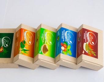 Five Bars of Zeri Natural Soap