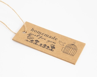 handmade customization just for you natural creation hemp string Lot of labels to hang Handmade just for you