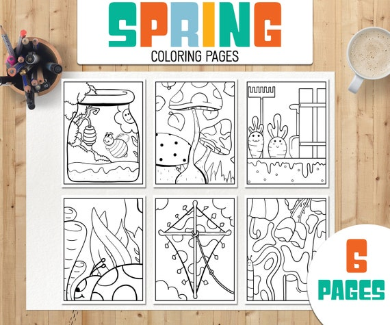 Spring Coloring Pages  Seasons Coloring Pages  Printable