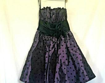 Lolita Kei Bowbell Chigusa Tokyo Dolly Girl Fashion Ultra Violet Op Art Pattern FINAL SALE 1980/'s Japanese Sheer Little Nothing Dress