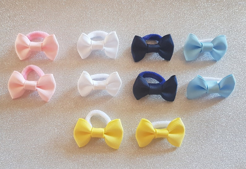 Babies Girls Toddlers Vibrant Pastel Colour Teeny Hairbow Set or Headband Toddlers Dainty Handmade Hair Accessories Hairclip Snapclip Bobble