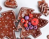 Christmas tree plate, holiday jewelry dish,  Ceramic tree shaped plate, Christmas Decor, Ceramic tea bag holder, Christmas gift