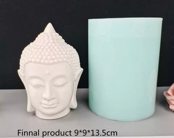 Chinese Buddha Bodhisattva Silicone Candle Mold,Avalokitesvara Candle Soap Making Mold,Chocolate Fondant Cake Topper Decorating Mould Tool,Polymer Aromatherapy Epoxy Clay Mould DIY Bakeware Pan