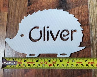 Tags or Ornaments Personalized Hedgehog Cage Name Plate