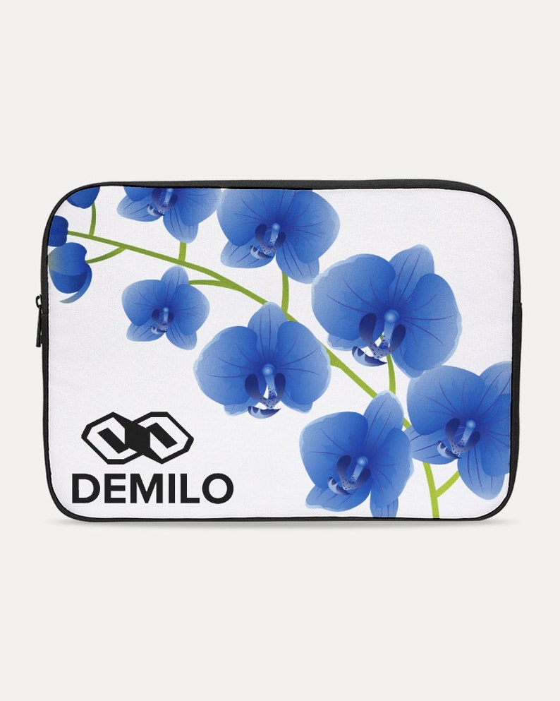 Laptop Sleeve blue orchids