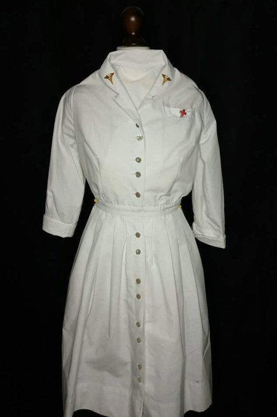 Vintage nurse dress 40s ww2