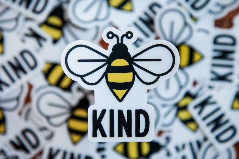 Positive vibes sticker Bee Sticker Die-Cut Sticker Laptop sticker Bee Kind clear sticker Water bottle sticker