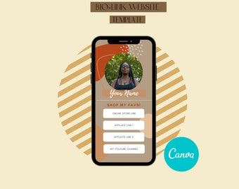 Link in Bio, Instagram Bio Link Canva Template for Social Media Managers, Coaches, Virtual Assistants, Influencers & Content Creators