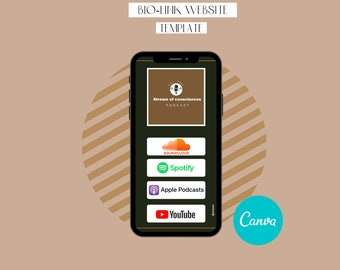 Link in Bio, Instagram Bio Link Canva Template Podcast