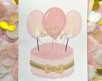 Happy Birthday - Birthday Cake Card