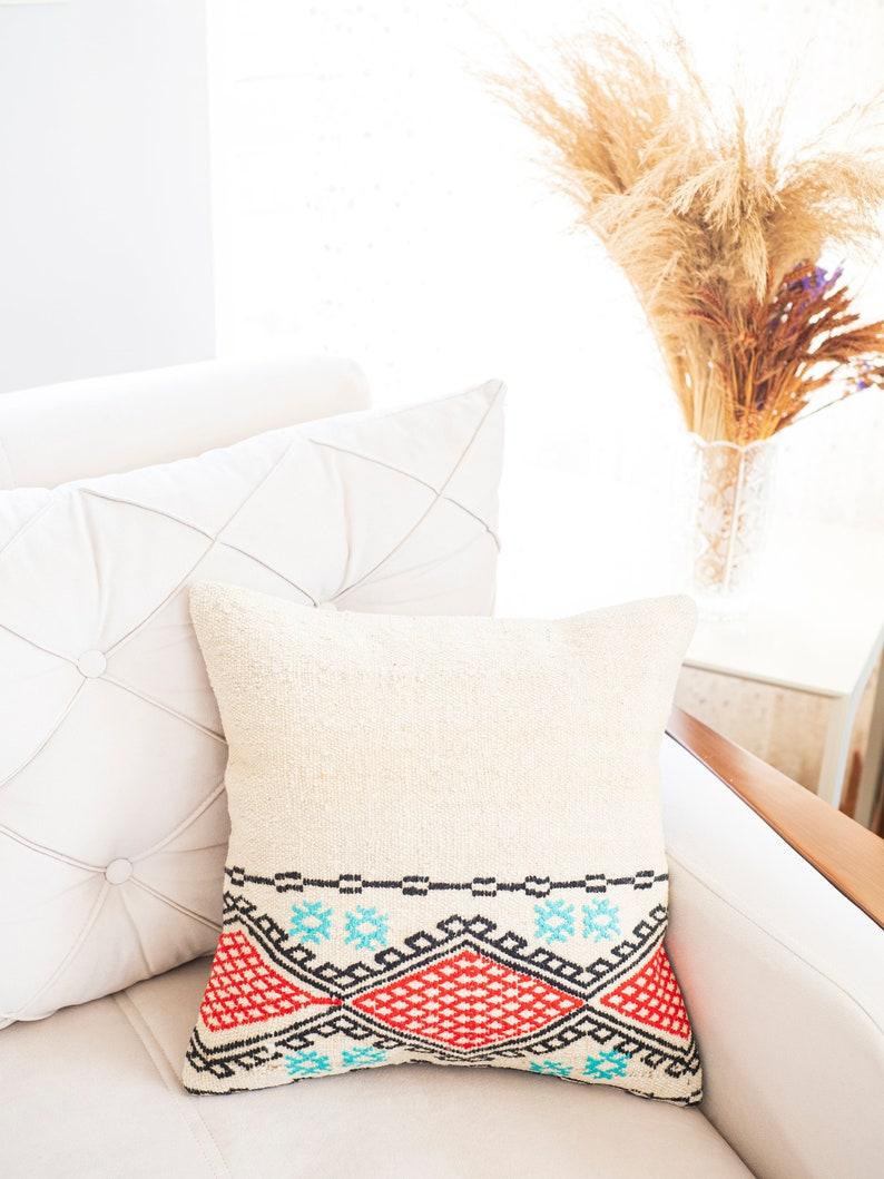 handmade kilim Anatolian Turkish kilim pillow cover kilim rug pillow cover
