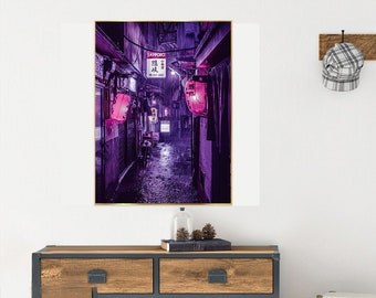 Purple Rain in TOKYO Gloss Poster 17x 24 inches