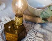 Cordless Boho Lamp TIMEBULB  - Qi Accu Charging wireless table lamp for dinner table & wedding decoration | Present Gift for my Best Friend