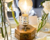 Ltd. Edition: 1/10 Cordless Lamp PlatinBlond by TIMEBULB | Qi Accu Charging | wireless table lamp | dinner table & wedding decor | Present