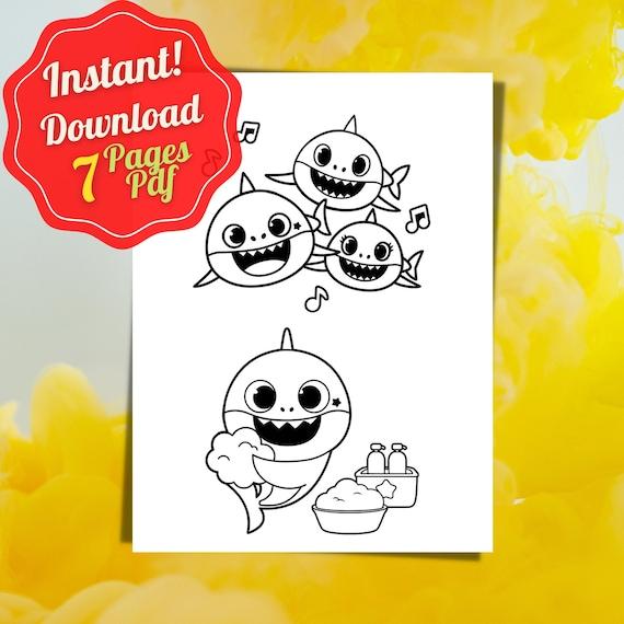 7 Baby Shark Coloring Pages Shark Print Printable Baby Shark