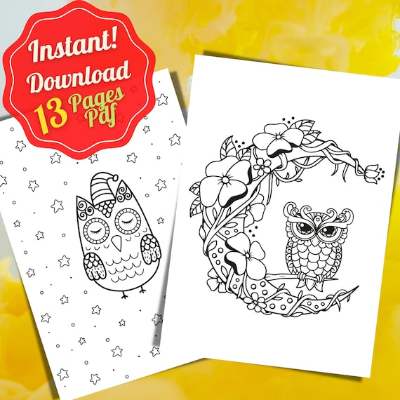 Owl Coloring Page Owl Coloring book Pdf Coloring Page