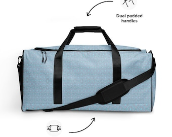 Light Blue and Pink Duffle Bag